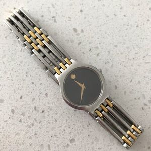 Movado Esperanza Watch Gold and Silver New Battery